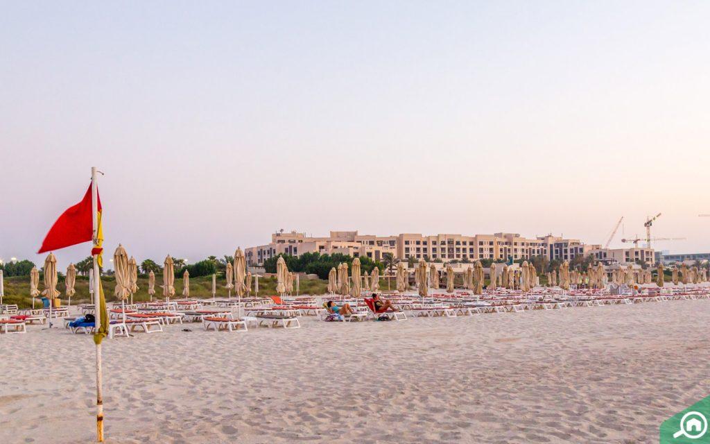 saadiyat beach near Mohammed Bin Zayed City