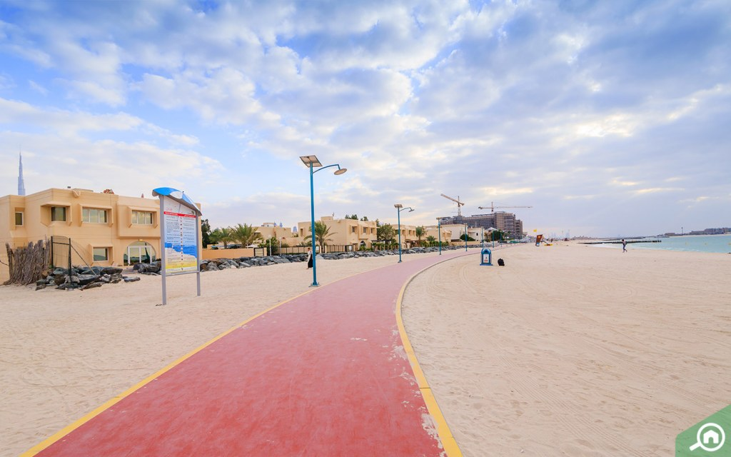 Jumeirah Beach is the closest to Downtown Dubai