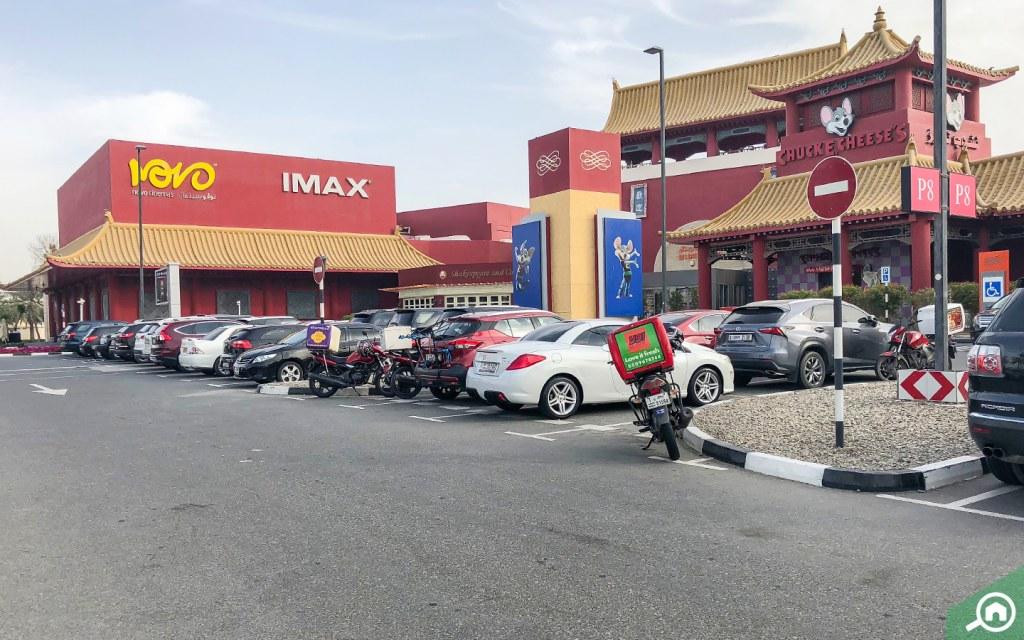 Resaturants and cinemas in Ibn Battuta Mall near Discovery Gardens