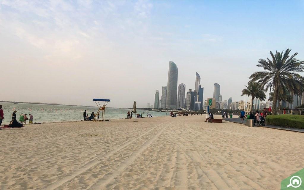Corniche Beach in Abu Dhabi