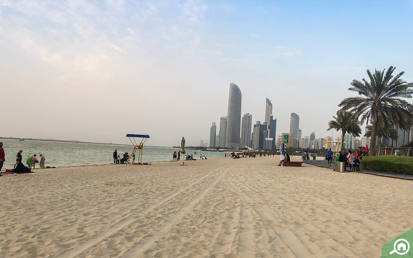 Corniche Beach in Abu Dhabi
