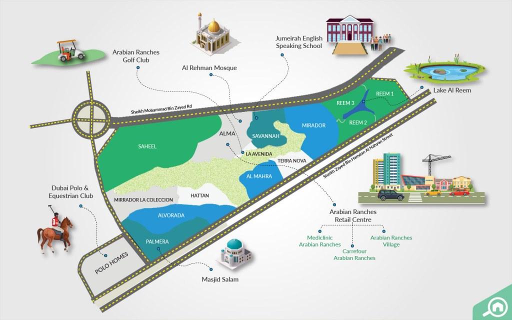 arabian ranches map