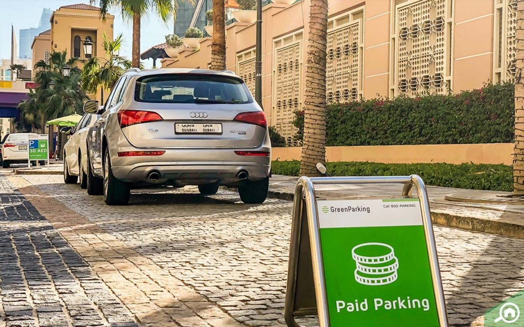 Parking spaces in JBR