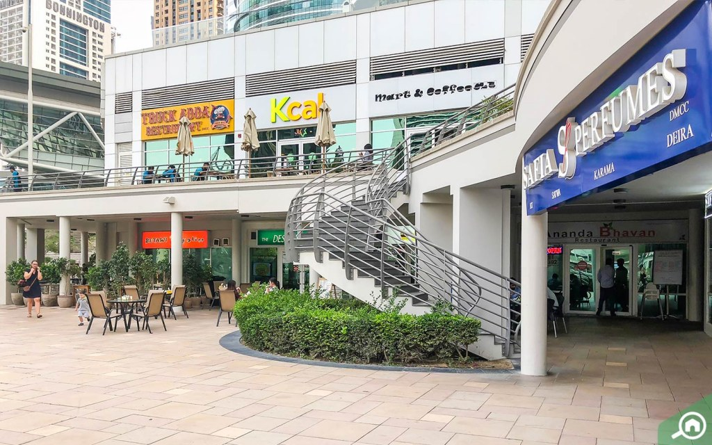 Shops, restaurants and commercial outlets in JLT.