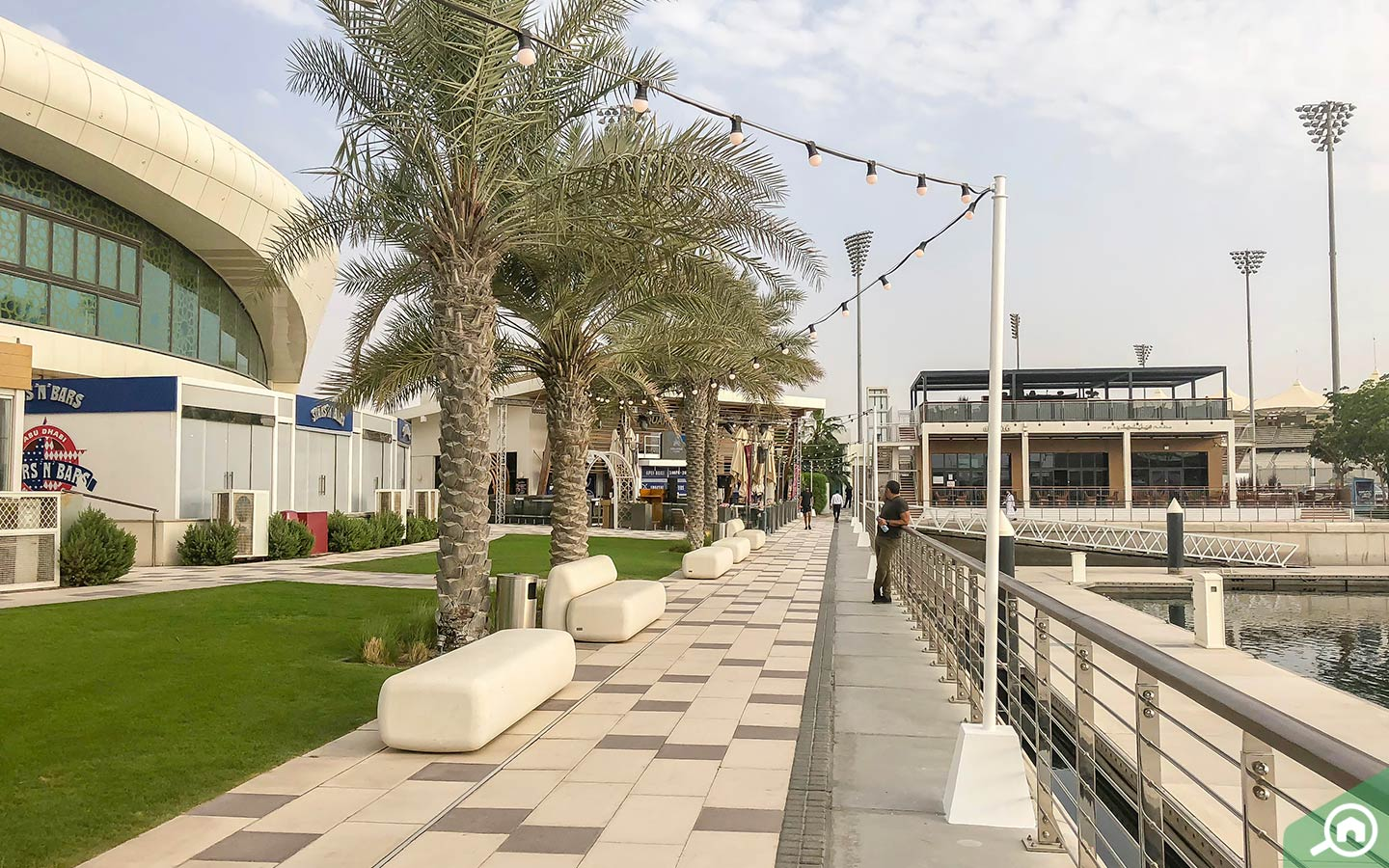 The boardwalk on Yas Island