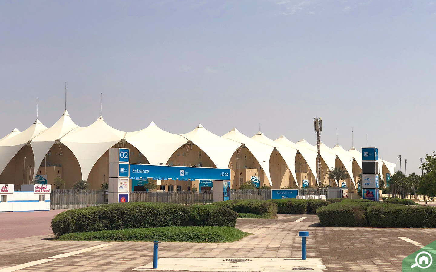 Yas Island gets crowded when there is an event at the Du Arena