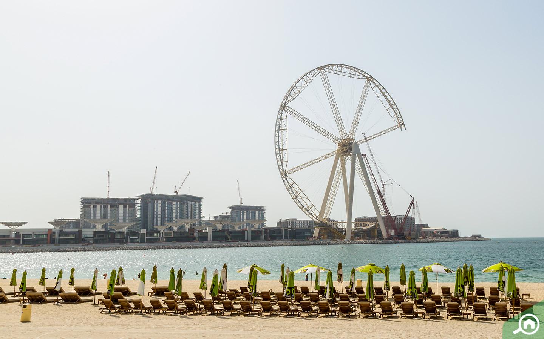 شاطئ جي بي ار بالقرب من من مركز دبي المالي العالمي