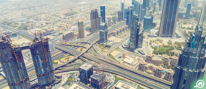View from inside Burj Khalifa