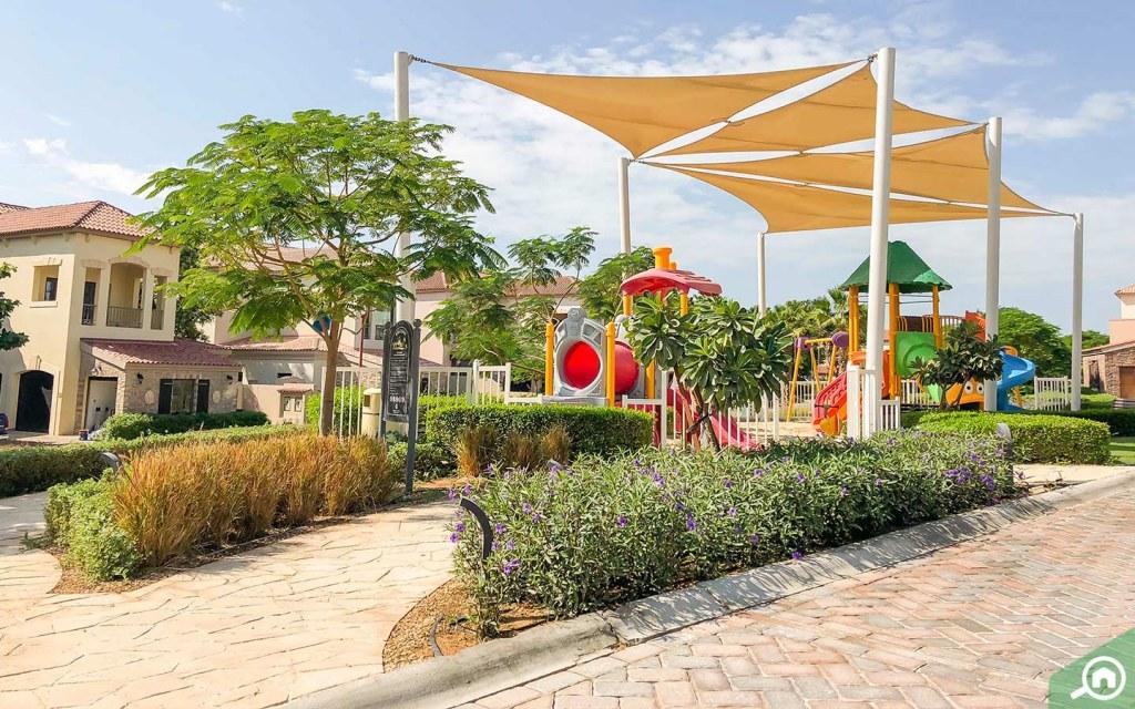 playgrounds in Jumeirah golf estates