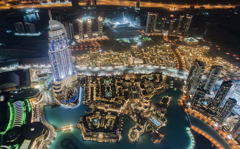 At the Top Burj Khalifa view at night
