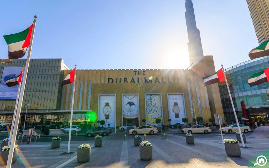 Dubai Mall near Burj Khalifa