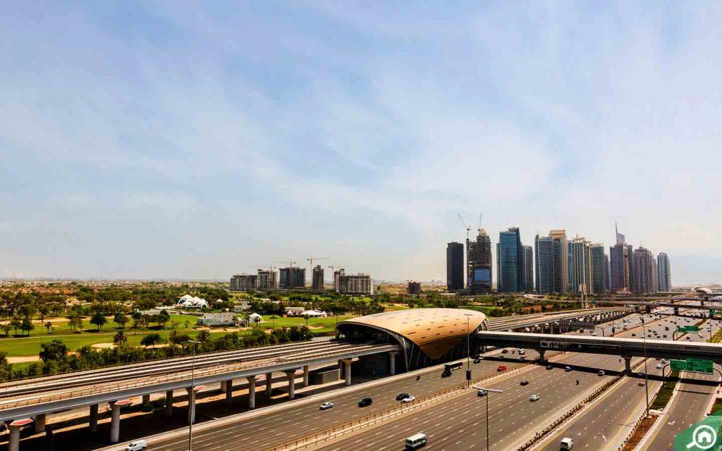 metro station on sheikh zayed road