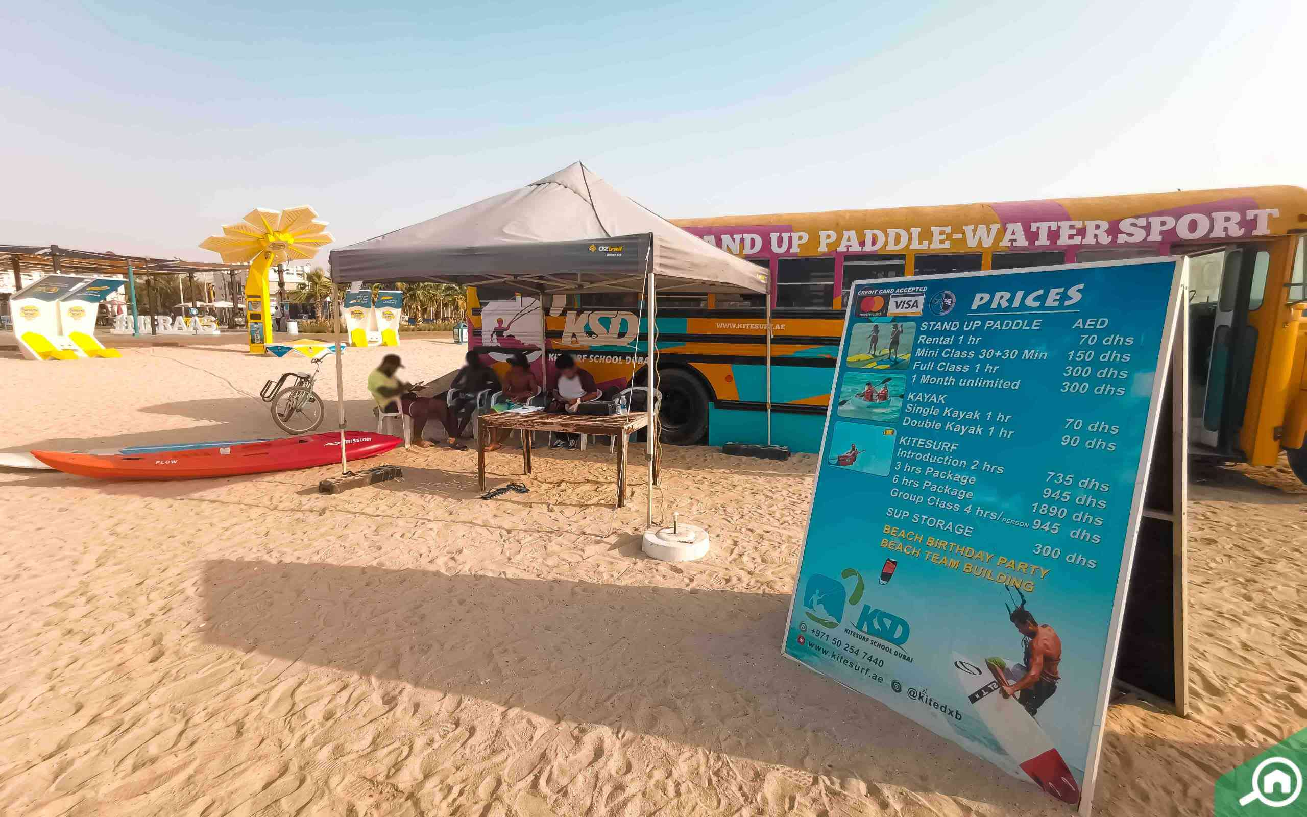 kite beach near sheikh zayed road