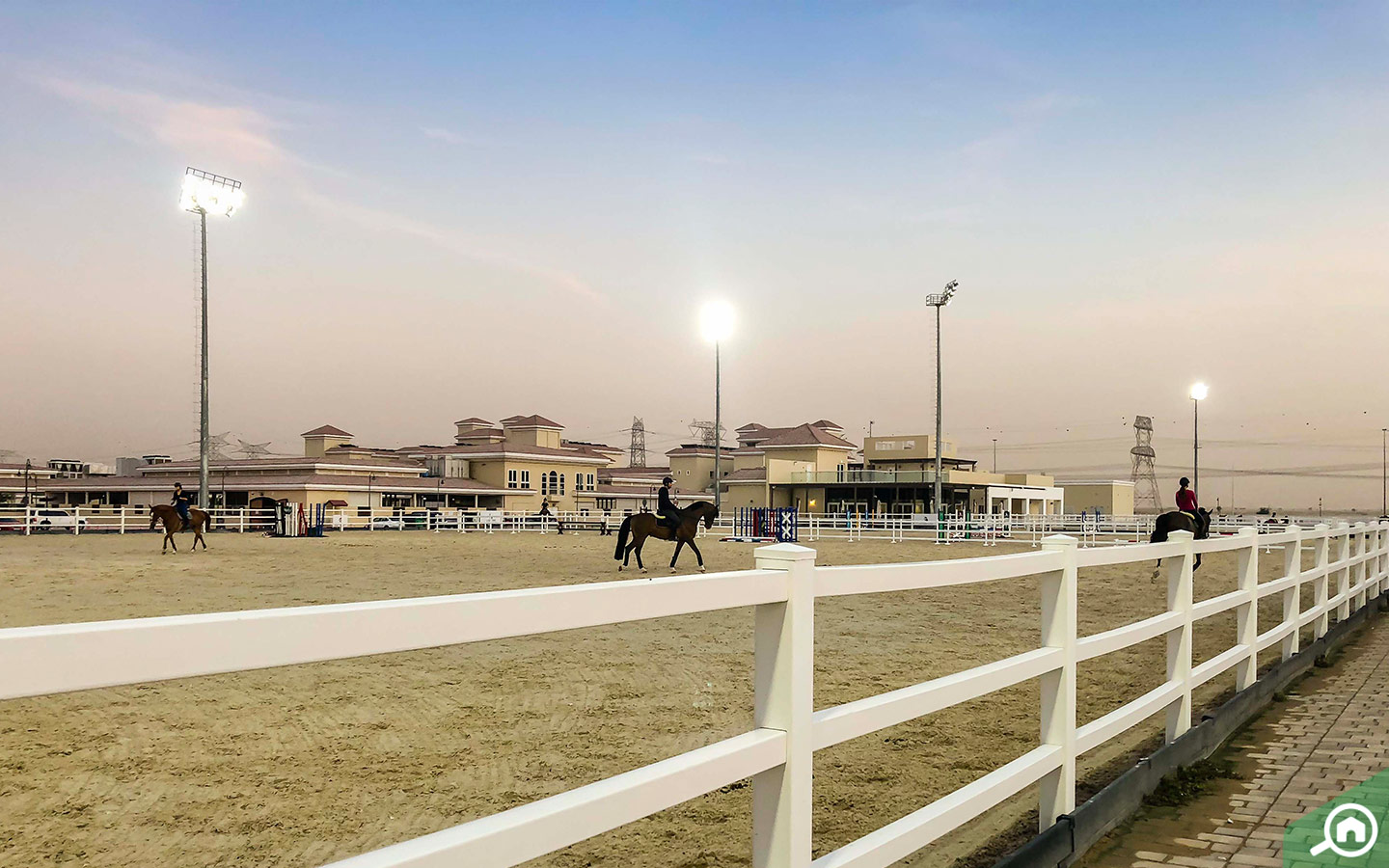 Horse riding in the Al Habtoor Polo Resort and Club.
