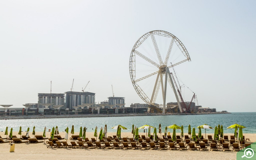 jbr beach near Dubai world central