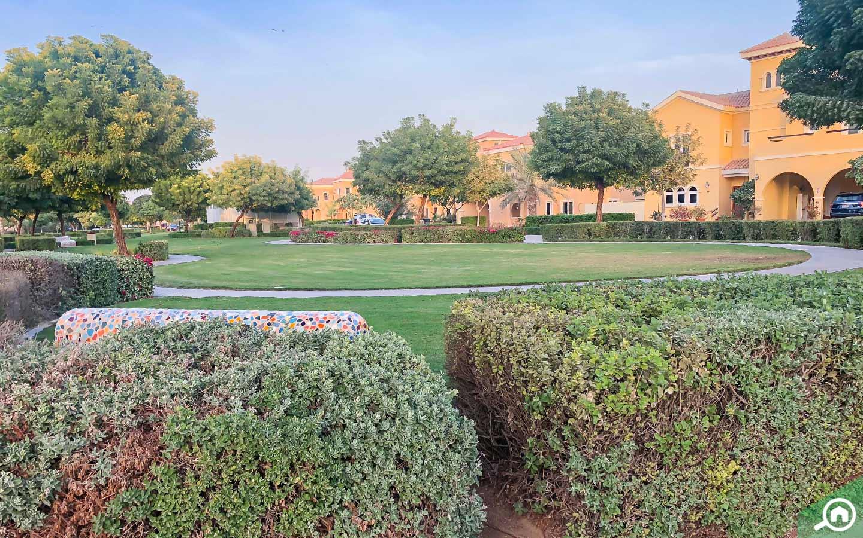 حدائق في مجمع ذا فيلا