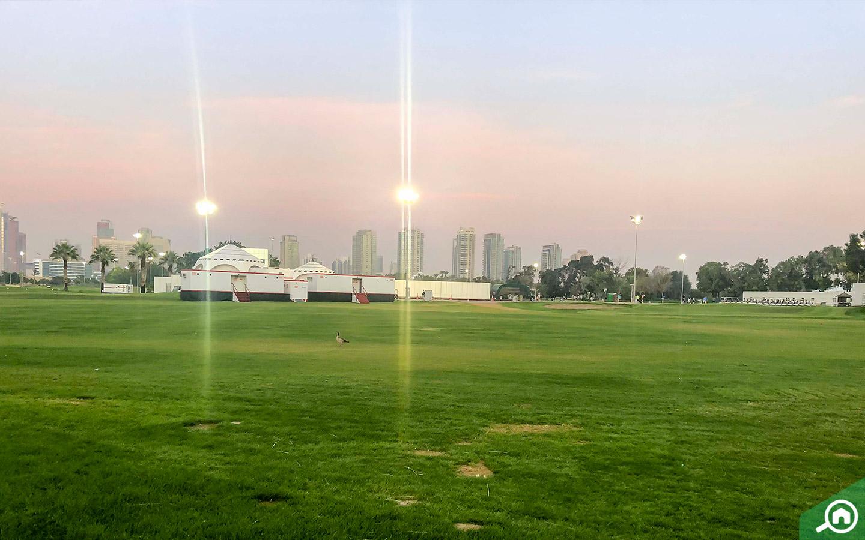 living in emirates golf club