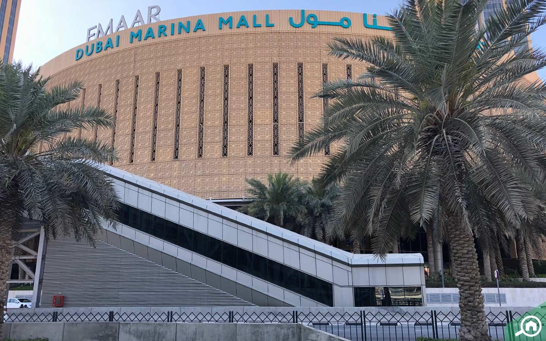 dubai marina mall near emirates golf club