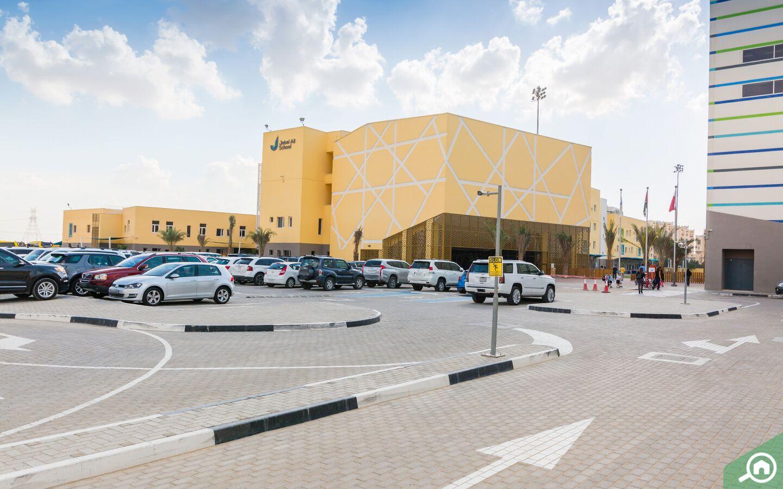 Jebel ali school near town square