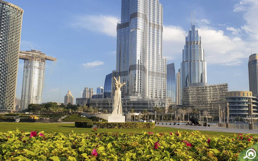 Burj Park in Downtown Dubai