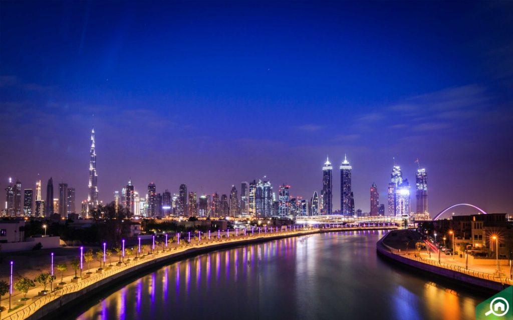 Dubai Water Canal near Al Safa