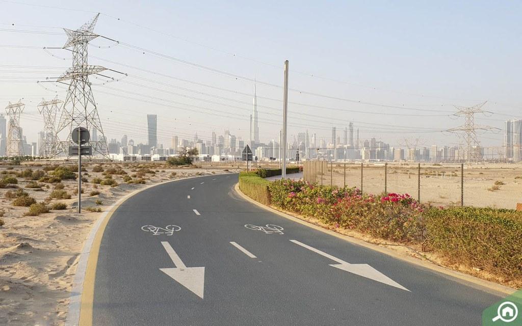 Cycling track in Nad Al Sheba close to meydan city