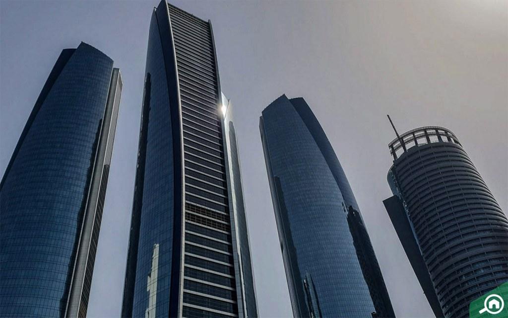 skyscaper buildings in al bateen
