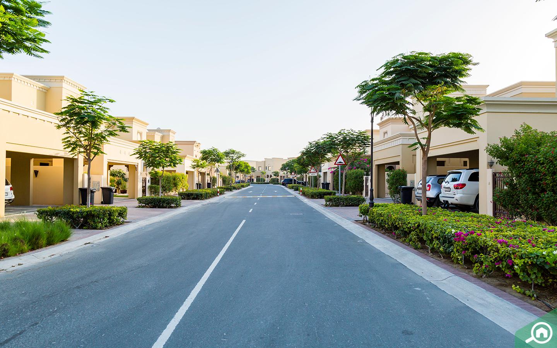 Arabian Raches 2 sub-community street view