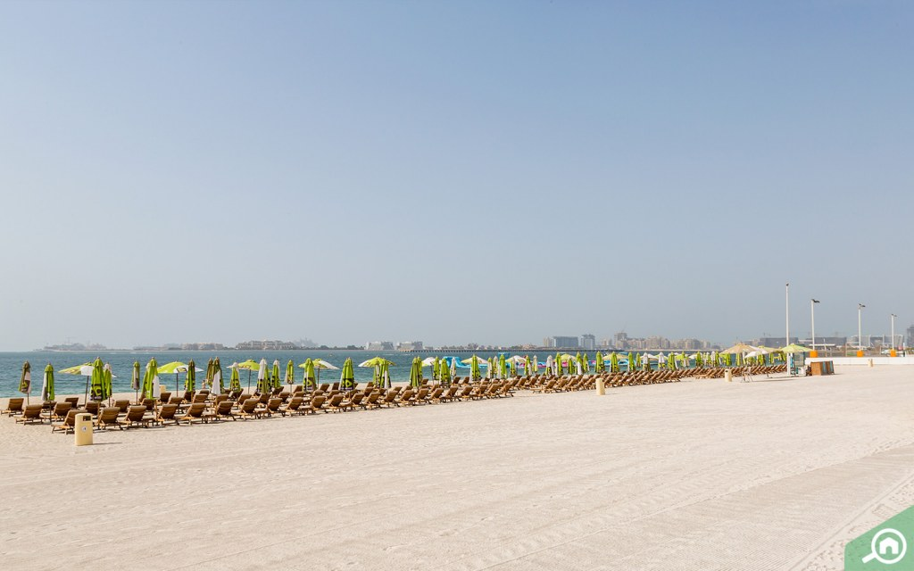 beach near jvt is jbr beach