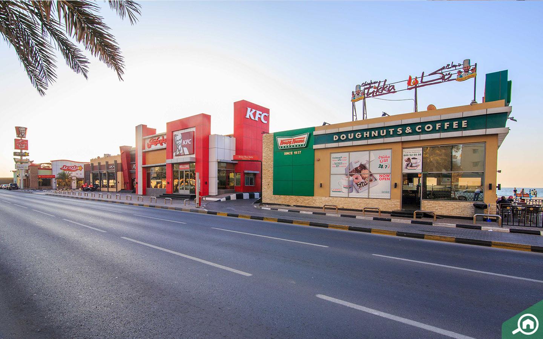 Fast food resturants in Ajman Corniche