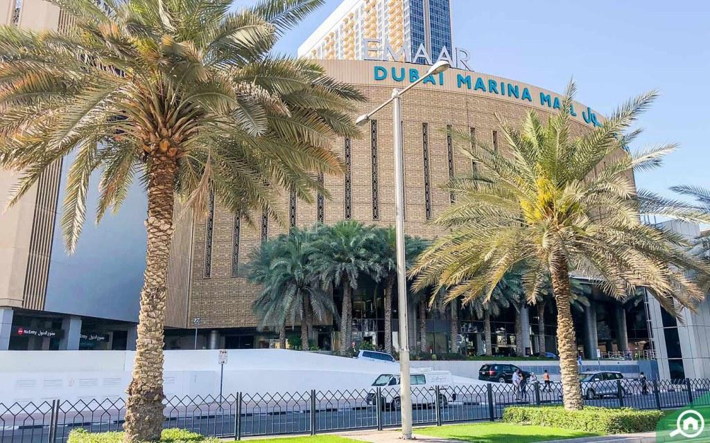 Dubai Marina Mall near Damac Hills