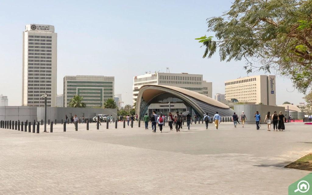 محطة مترو الاتحاد في الديرة دبي