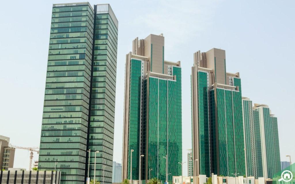 المباني في جزيرة الريم أبوظبي