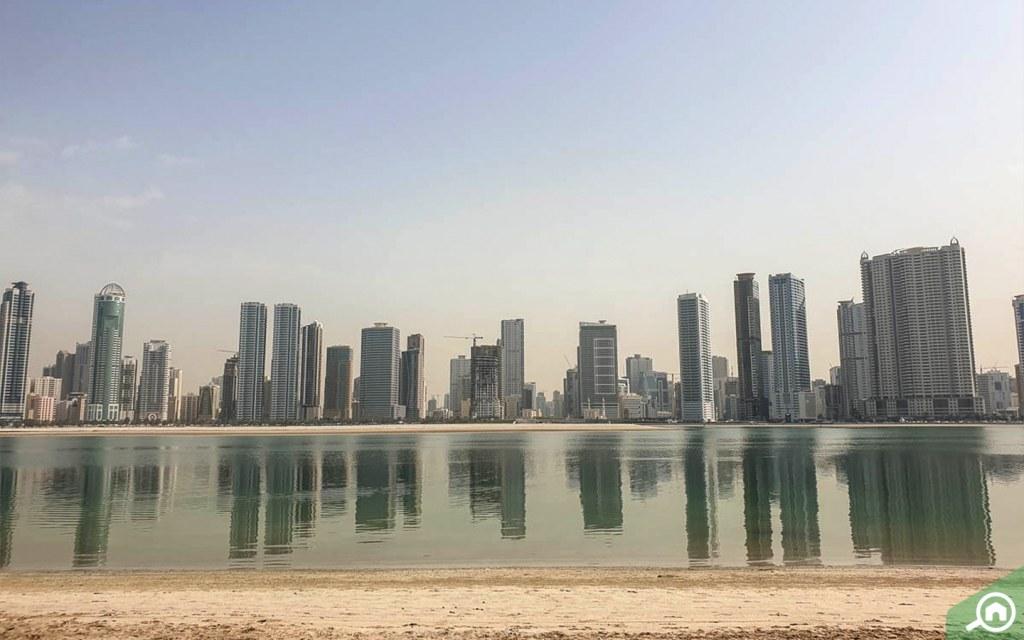 Buildings in Al Khan lagoon