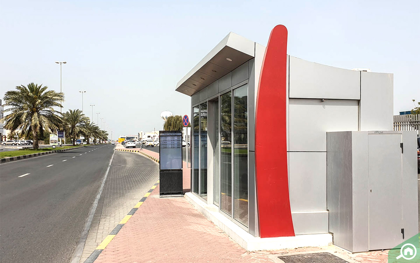 Bus stop near ajman downtown