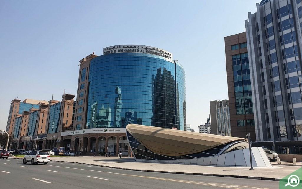Commercial building in al garhoud near the metro
