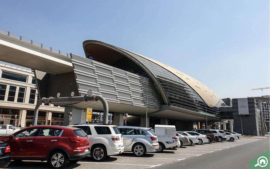 GGICO Metro station in Al Garhoud