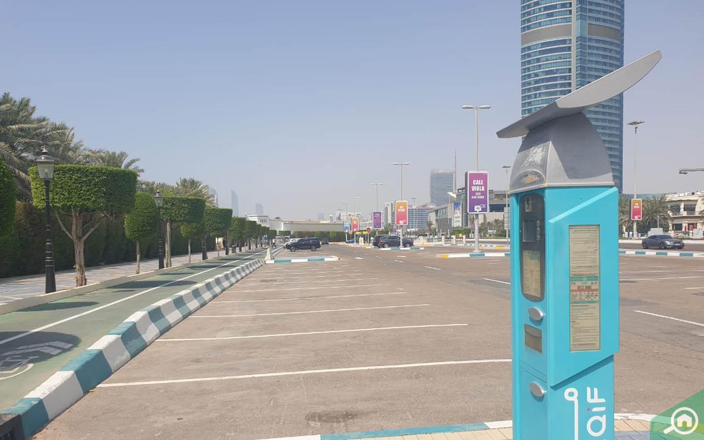 Parking on Corniche road