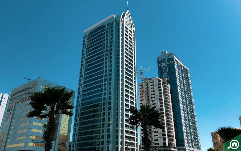 buildings in Ajman Corniche