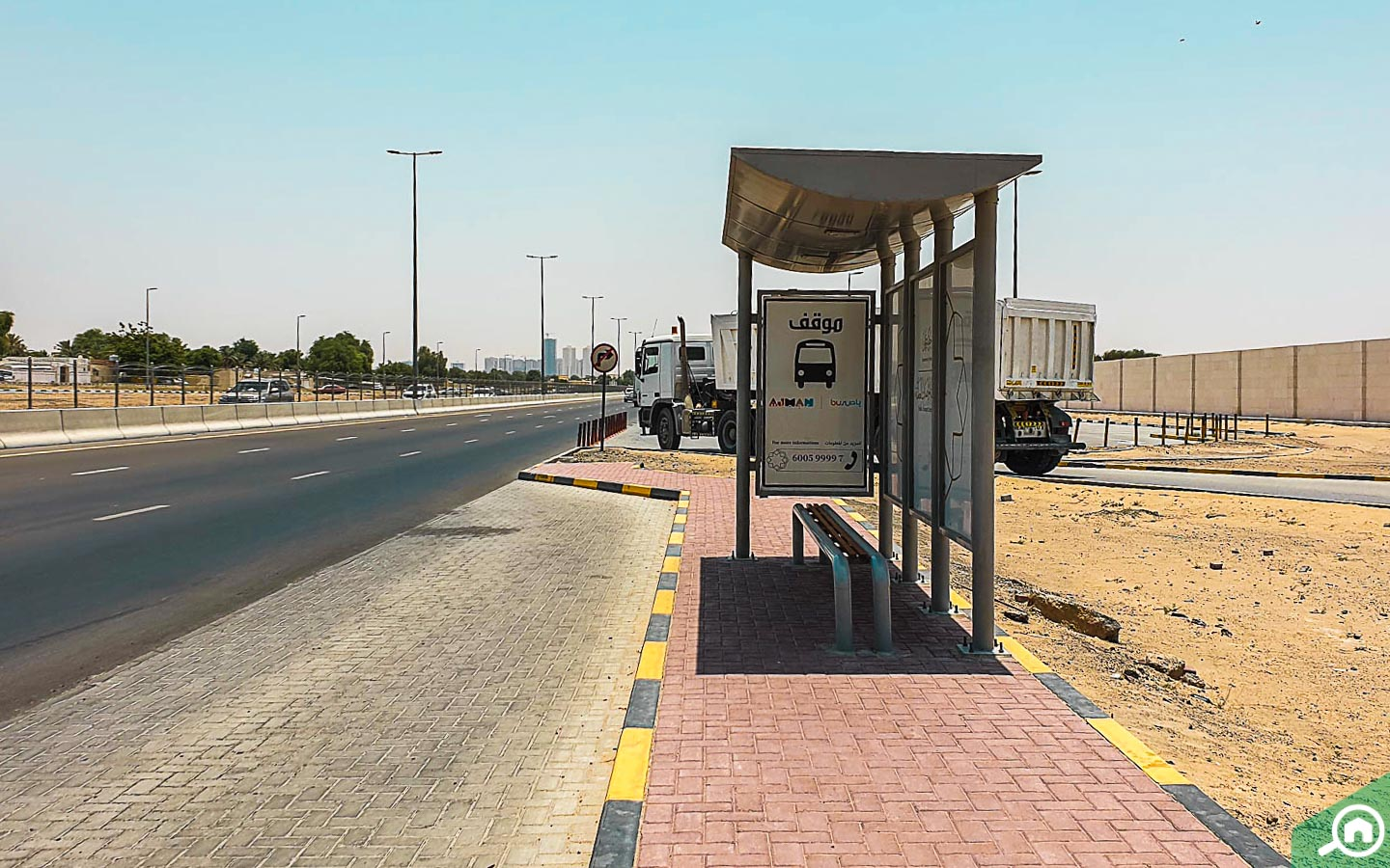 bus stop in al rawda