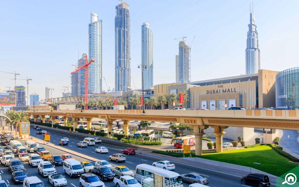 dubai mall near mbr city