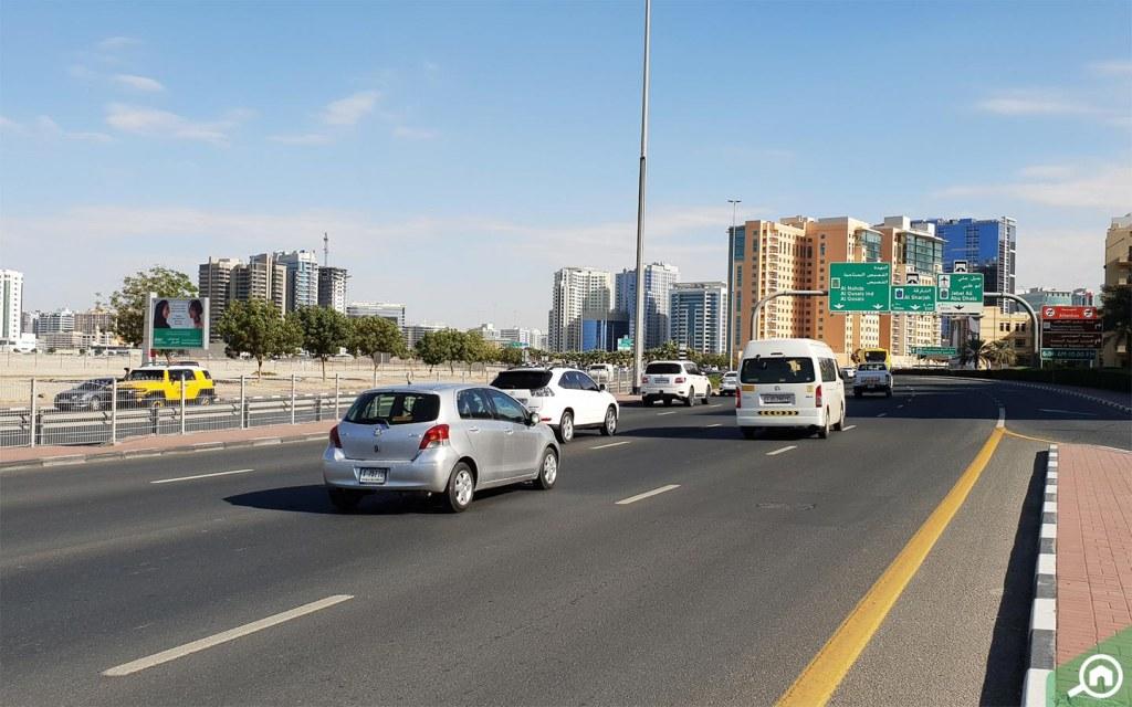 Main road near Al Mamzar Dubai
