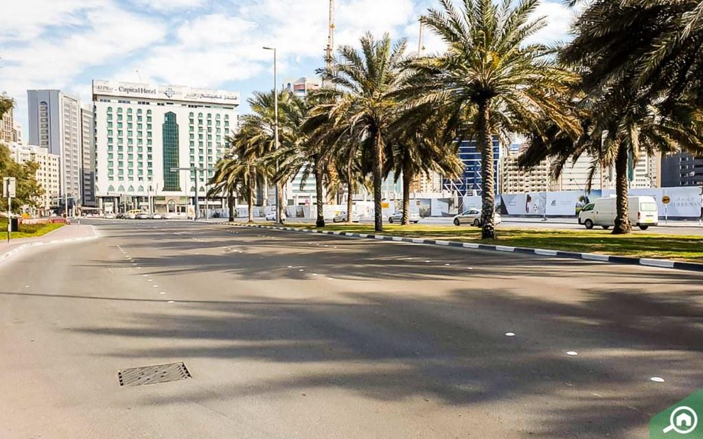 street view of markaziya, abu dhabi