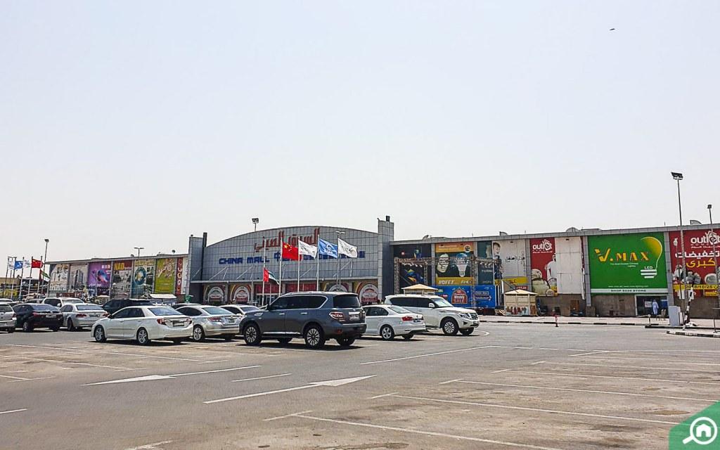 ajman china mall parking view