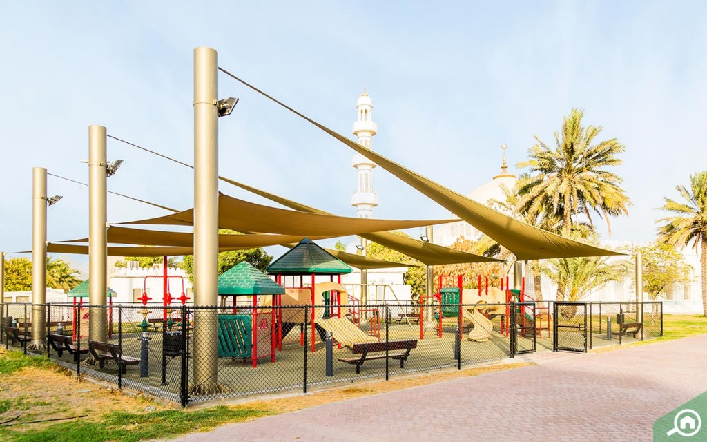 shaded play area
