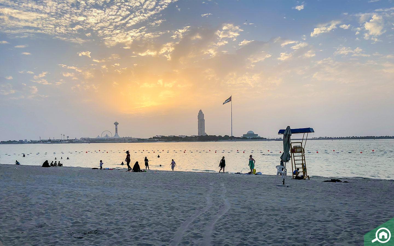 Corniche Beach near Al Maryah Island