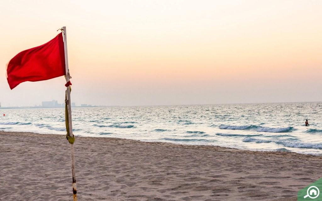 Beach for the residents of Al Raha Gardens