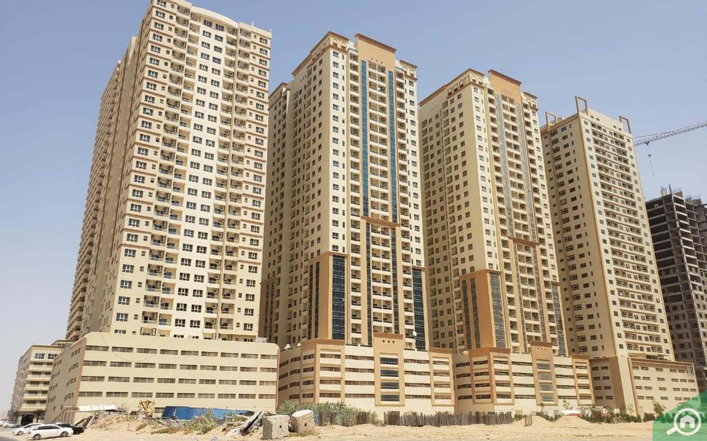 Apartment buildings in Emirates City