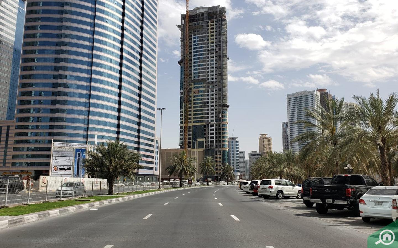 Apartment towers in Al Qasba