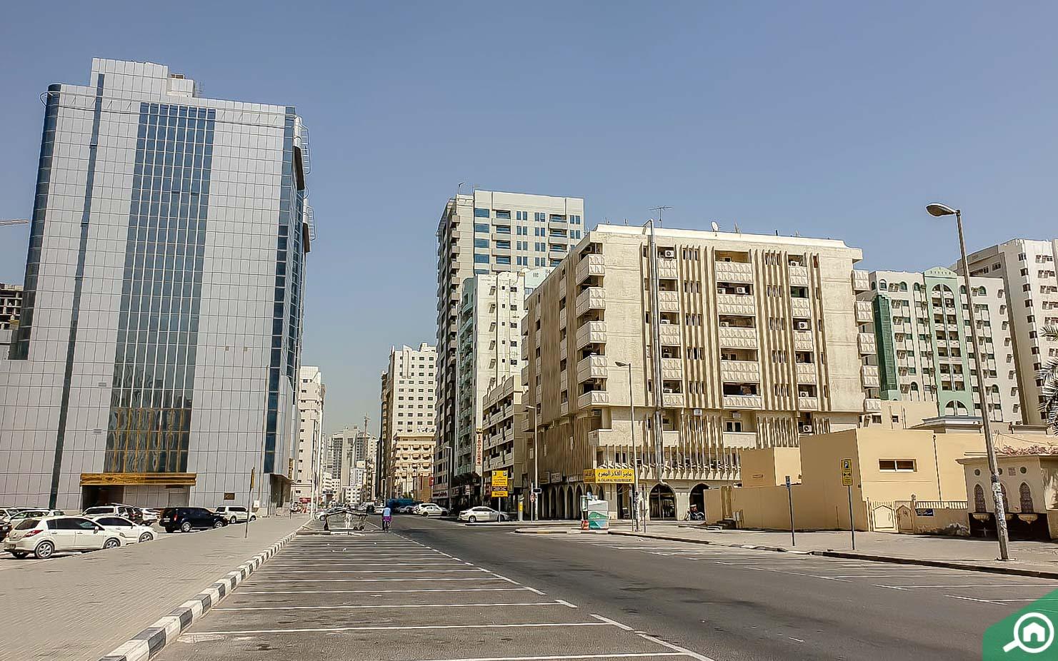 Street view in Abu Shagara
